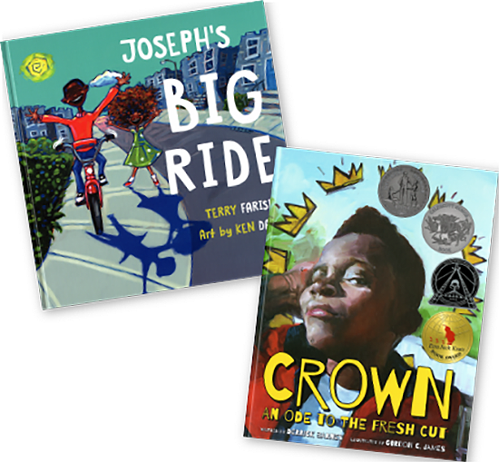 Covers for Joseph's Big Ride and Crown